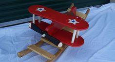 Custom Biplane Rocker made locally by Woodentreasuresonline.com