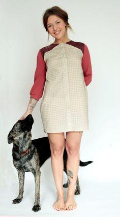 BioHemdkleid mit einzigartigem Quarz Muster von johannahauckdesign, €245.00 Cold Shoulder Dress, High Neck Dress, Etsy, Vintage, People, Handmade, Dresses, Design, Style