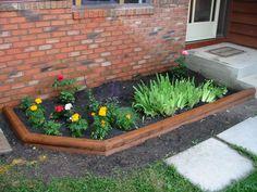 Image result for wood flower bed border