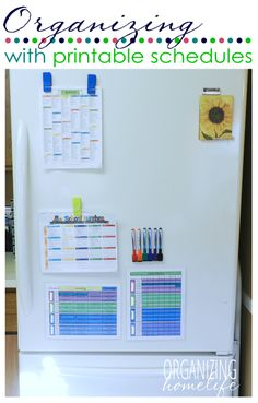 How to Organize Using Printable Schedules