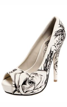 Tattoo-style shoes