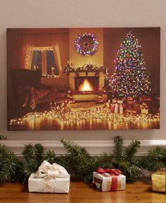 Fiber-Optic Holiday Canvas Wall Art