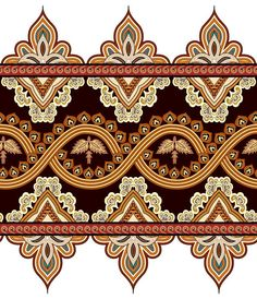 Textile Pattern Design, Pattern Art, Design Patterns, Border Pattern, Border Design, Zentangle, Flower Art Images, Decorative Lines, Stencil Painting On Walls