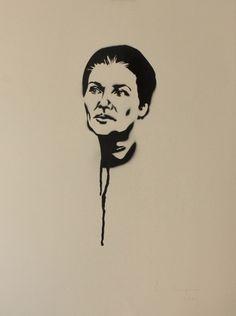 Portrait de Simone Veil par Pierre Marques.