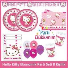 Hello Kitty Ekonomik Parti Seti (8 Kişilik)
