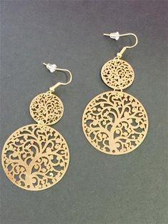 La Bella Donna - Σκουλαρικια statement χρυσα Jewelery, Drop Earrings, Personalized Items, Inspiration, Ethnic, Fashion, Stud Earrings, Accessories, Jewlery