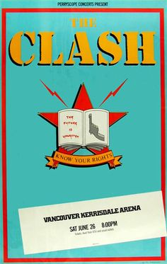 The Clash     Vancouver Kerrisdale Arena   6/26/1982