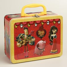 Celebrate the release of the upcoming film, The Book of Life (in theaters 10/17), and shop @worldmarket's exclusive Book of Life Toys! -- I love this old-fashioned tin lunchbox. #bookoflife
