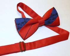 Mens Bow tie  red and blue skull tie by RokGear on Etsy, $24.20
