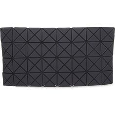 BAO BAO ISSEY MIYAKE Prism zipped pouch ($380) ❤ liked on Polyvore featuring bags, handbags, clutches, black shiny, black purse, pouch purse, pvc handbags, pvc purse and zipper purse