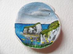 Old Harry's Rocks Dorset England Original by Alienstoatdesigns