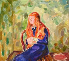 Käte Perls (1913) (Edvard Munch - )