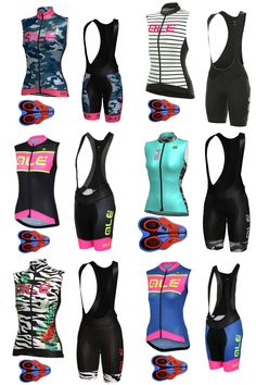[Visit to Buy] High quality ALE 2017 women's cycling sleeveless jersey bicycle 9D pad bib shorts suit MTB bike clothes ropa ciclismo mujer E202 #Advertisement