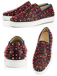 """Christian Louboutin """"Roller-Boat Spikes""""."""