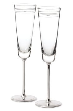 kate spade new york 'darling point' champagne flutes (set of 2) available at #Nordstrom