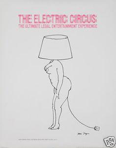 Original-Vintage-Poster-Tomi-Ungerer-Electric-Circus-Saint-Marks-NYC-Nightclub