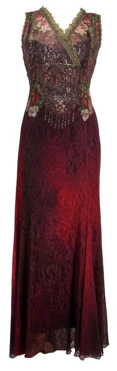Michal Negrin Evening High-Waist Sleeveless Dress