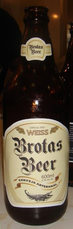 Cerveja Brotas Beer Weiss, estilo German Weizen, produzida por Cervejaria Caseira, Brasil. 4.7% ABV de álcool.