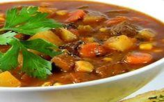 Receita de sopa fácil de carne com legumes para a fase cruzeiro PL dukan.