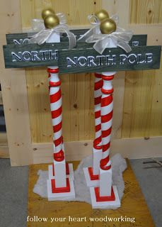 north pole christmas sign - Google Search