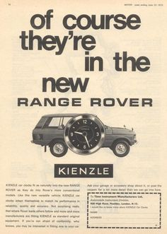 Range Rover Classic, The New Range Rover, 4x4, Range Rovers, Car Advertising, Shrek, Visual Communication, Vintage Advertisements, Motor Car