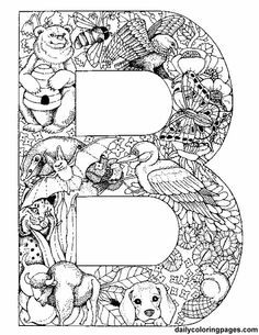 animal alphabet letter b coloring pages printable and coloring book to print for free. Find more coloring pages online for kids and adults of animal alphabet letter b coloring pages to print. Animal Alphabet, Alphabet Letters To Print, Printable Letters, Animal Letters, Bubble Alphabet, Uppercase Alphabet, Alphabet Images, Preschool Alphabet, Alphabet Crafts