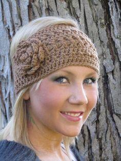 Crochet Head Wrap Toasted Almond Boho Style $14