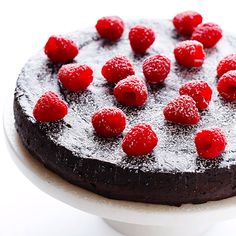 Flourless Chocolate cake recipe with only three ingredients is as easy to make as it sounds. The recipe only includes eggs, chocolate and butter. Cake Recipes, Dessert Recipes, 3 Ingredient Recipes, Flourless Chocolate Cakes, Choc Ganache, Paleo Chocolate Cake, Flourless Desserts, Chocolate Butter, Gimme Some Oven