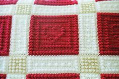 HEARTS pattern for crocheted blanket by ColorandShapeDesign