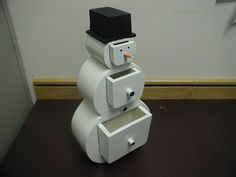 Snowman bandsaw box