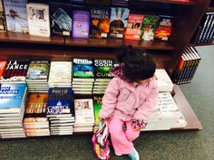 My baby with books
