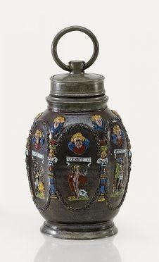 Schraubflasche mit Planetendekor aus unserer Rubrik: Asiatika - Varia Kunstgewerbe