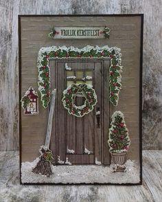 Stamp-ing: Hittegolf......en ik maak een kerstkaart met 'At Home with You / Thuiskomen' van Stampin'Up!!!!