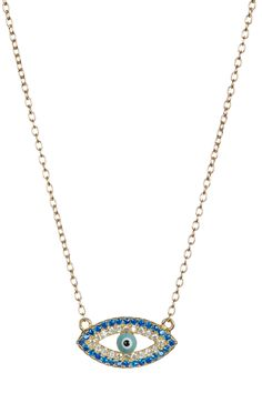 f77df93bf 18K Gold Vermeil CZ Evil Eye Pendant Necklace Evil Eye Pendant, Evil Eye  Necklace,
