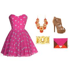 """Lovely in Polka Dots"" by elise-shane on Polyvore"