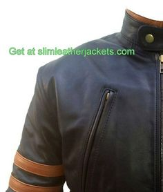 #X-Men #wolverine #motercyle #leather jackets only for lover Hugh Jackmans specially offers free shipping at slimleatherjackets .com