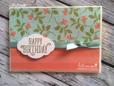 Birthday Card using Stampin Ups Petal Garden DSP, Pretty Label and Happy Birthday Gorgeous by Kate Morgan, Independent Demonstrator Australia 8