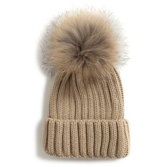 Chicnova Fashion Solid Color Bobble Beanie (£16) ❤ liked on Polyvore featuring accessories, hats, wool hat, woolen hat, bobble beanie and bobble hat