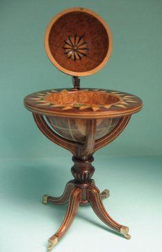 "Globe Drinks Cabinet - Dollhouse Miniature 1"" Scale 1:12"