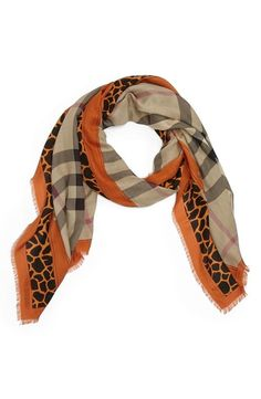 Perfect for fall! Burberry Animal Print Scarf