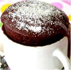 Receta de Cupcake de Chocolate de Microondas