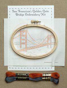 San Francisco Golden Gate Bridge | Embroidery Kits | Purl Soho