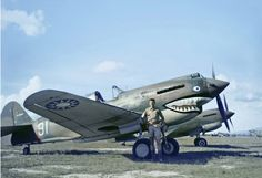 "RT ""Tadpole"" Smith 3rd Squadron AVG Ace by P-40B # 91 in Burma during 1942."