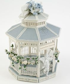 This gazebo was made to commemorate summertime at the beach using the warm marine blues of Shoreline Treasures.  Although I don't live near a beach, I have wonderful memories of family vacat…