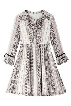 Bow Ruffle Chiffon Dress