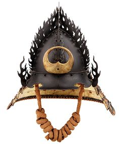 Helmet representing the flaming jewel (hōju-nari kaen kabuto); Signed Unkai Mitsuhisa kore o tsukuru (made by Unkai Mitsuhisa); Early Edo period, about 1630; Iron, lacquer, lacing © The Ann & Gabriel Barbier-Mueller Museum, Dallas