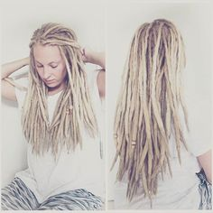 Dreadstuff Everything a dreadhead need Great dreadlock products and dreadlock accessories and dreadlock tutorials everything that you need to know about dreadlocks White Girl Dreads, Dreads Girl, Blonde Dreadlocks, Locs, Dreadlock Hairstyles, Messy Hairstyles, Dreadlock Products, Dreadlock Accessories, Beautiful Dreadlocks