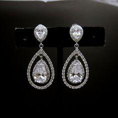 bridal Jewelry bridal earrings wedding earrings by DesignByKara, $59.00