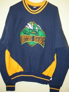 NCAA Notre Dame Fighting Irish Sweatshirt The Game Vintage sz Large varsity   TheGame  NotreDame 319f52b46a11