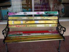 banc design avec vieux ski recyclés